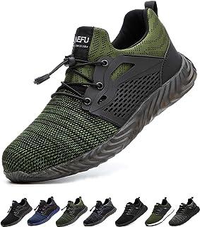 Gainsera Chaussures de Travail de sécurité Hommes Femmes Bout en Acier Chaussures de sécurité Anti-crevaison Protection Re...