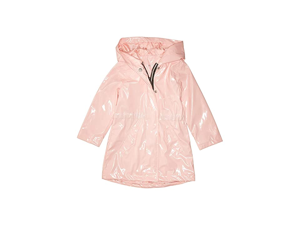 Urban Republic Kids Raincoat Patent Faux Leather Anorak Jacket (Infant/Toddler) (Pink) Girl