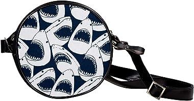 Runde Crossbody-Tasche kleine Handtasche Damen Mode Schultertaschen Messenger Bag Canvas Tasche Hüfttasche Zubehör für Frauen