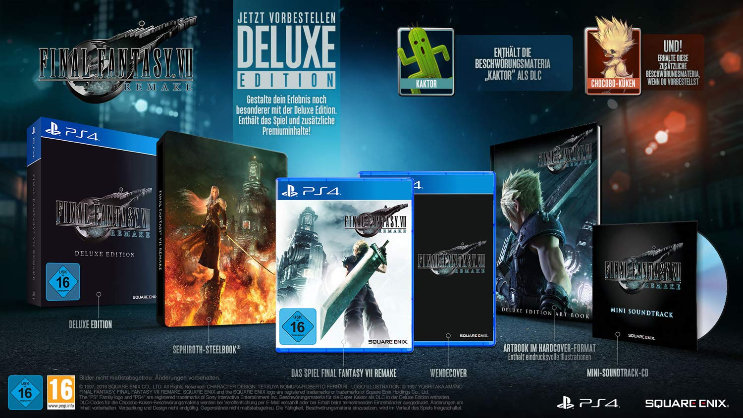 Final Fantasy VII HD Remake Deluxe Edition (Playstation 4 ...