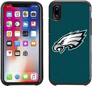 Prime Brands Group Cell Phone Case for Apple iPhone X - NFL Licensed Philadelphia Eagles Textured Solid Color