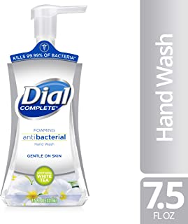 Dial Complete Foaming Antibacterial Hand Wash, Soothing White Tea, 7.5 Fl Oz (Pack of 1)