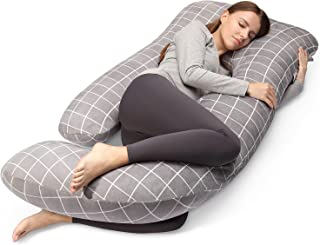 Pregnancy Pillow for Sleeping ,Cauzyart Full Body Pillow 55 inches Provides Maternity Support for Back, Hips, Legs and Bel...