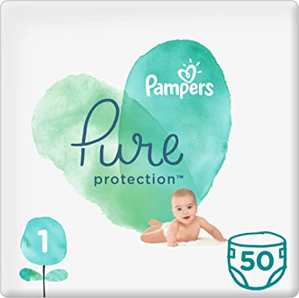 Pampers Pure Protection Diapers, Size 1, 2-5kg, 50 Count