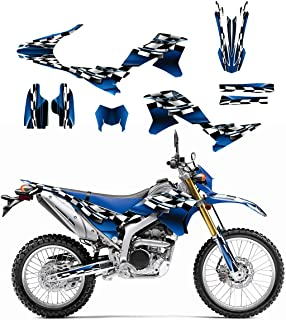 Yamaha WR250R or WR250X Graphics Decal Kit 2007-2014 by Allmotorgraphics NO2500 Blue