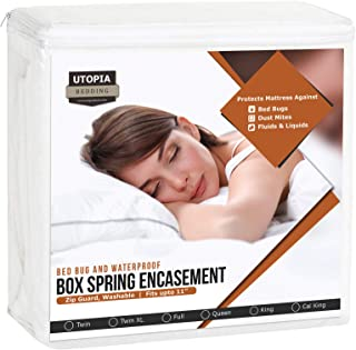 Utopia Bedding Premium Box Spring Encasement - Waterproof Zippered Box Spring Cover - Knitted Box Spring Protector (King)