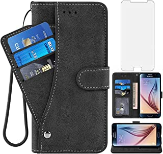 Asuwish Samsung Galaxy S6 Wallet Case,Leather Phone Cases with Credit Card Holder Slim Kickstand Stand Shockproof Rugged F...
