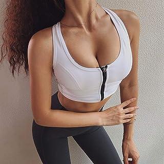 Women Zipper Sports Bras Shockproof Underwear Running Fitness Vest Gym Workout Yoga Bra Sportswear Yoga Sport Top zhengpin...