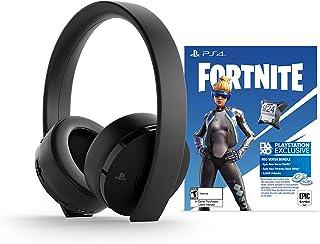 PlayStation Gold Wireless Headset: Fortnite Neo Versa Bundle - Jet Black for PlayStation 4