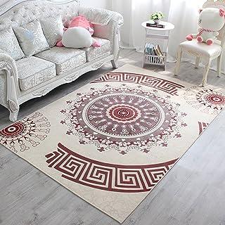descente de lit style scandinave moderne personnalis/é forme g/éom/étrique Tapis de salon Kooco tapis de sol pour table basse simple sofa 110CMX120CM Polyester rose