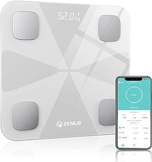 体重計 体組成計 体脂肪計 Bluetooth デジタル 高精度 体重/体脂肪率/体水分率/筋肉量/内臓 脂肪/タンパク質/BMI測定可能 ボディスケール 電源自動ON/OFF 薄型 健康管理 肥満予防 iOS/Android 対応 スマホでデ...