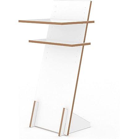 Schreibtisch Erh/öhung und Stehtisch wei/ß Stehpult Aufsatz h/öhenverstellbar Fit for Fun Schreibtischaufsatz aus Holz