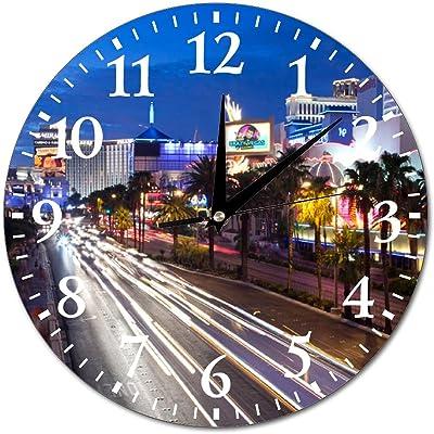 Details about  /Wall clock clock city street lights 12 forms fr 2642 show original title
