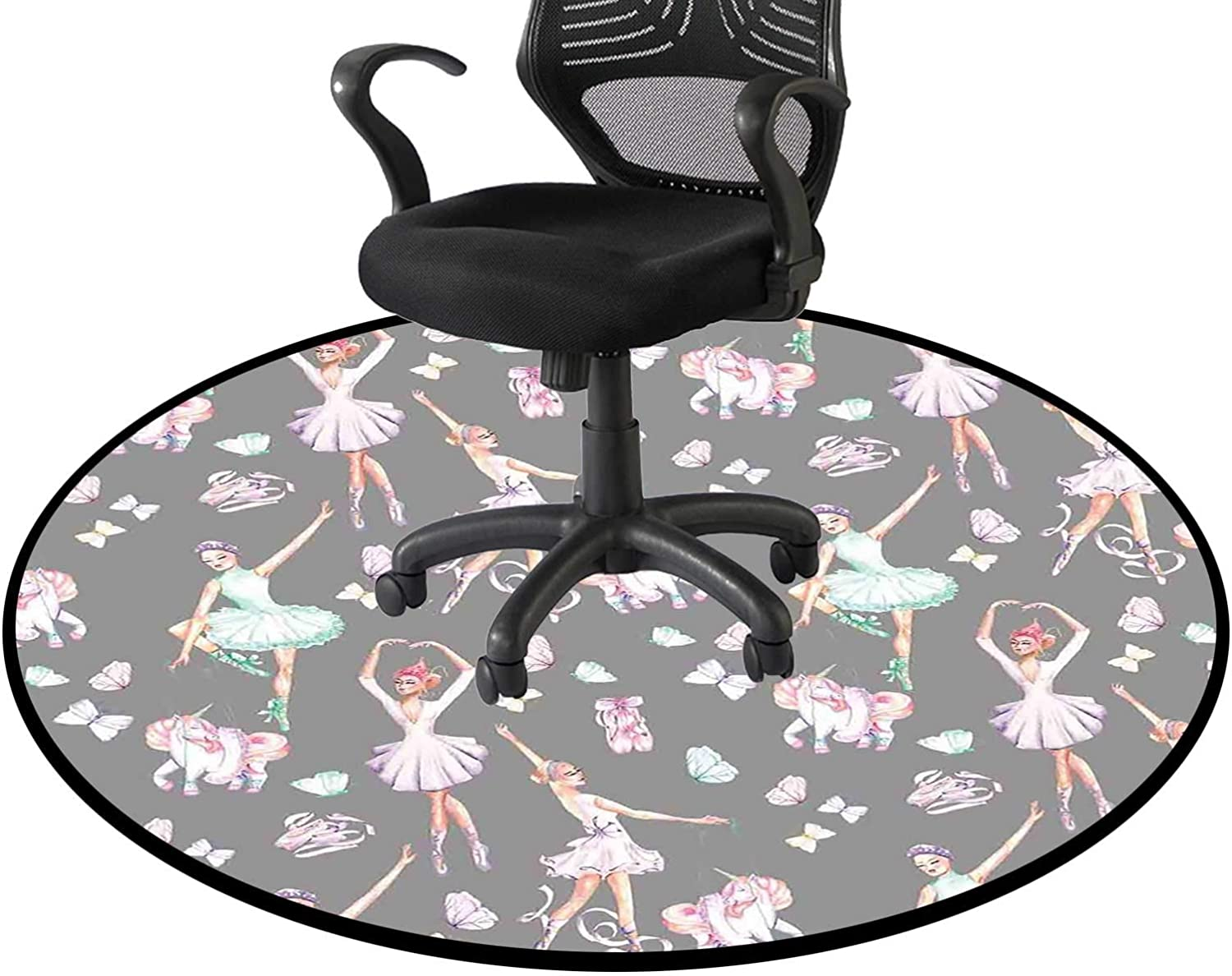 Dancers and Chicago Financial sales sale Mall Unicorns Office Swivel Floor P Mat Chair Home
