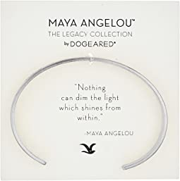 Dogeared - Maya Angelou: Nothing Can Dim The Light Cuff Bracelet