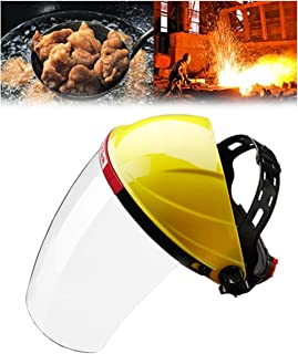 Adjustable Clear Face Mask Shield Visor Safety Workwear Eye Protection – Ideal For Gardening Cooking Oil Splashing
