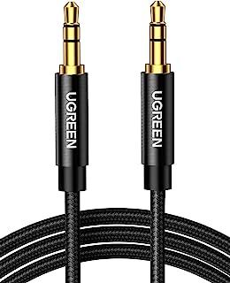 UGREEN 3.5 mm Hane till Hane Audio Kabel 3.5mm Aux Kabel Nylon Ljudkabel Kompatibel med iPhone 6/ 6S/ 5/ 5S /SE, iPad iPod...