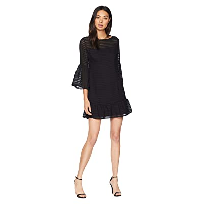 BB Dakota Night Vision Bell Sleeve Dress (Black) Women