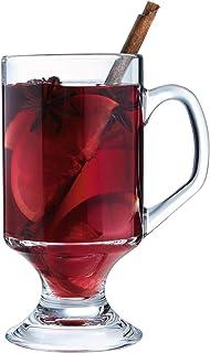 Arcoroc ARC 11874 Irish Coffee Kaffeeglas mit Henkel, 290ml, Glas, transparent, 4 Stück