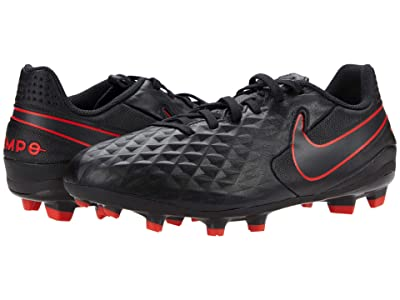 Nike Kids Jr Legend 8 Academy Soccer (Toddler/Little Kid/Big Kid) (Black/Dark Smoke Grey/Chile Red) Kids Shoes