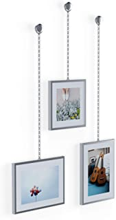 Umbra Fotochain, 4x4 and 4x6 Picture Frame and Wall Decor Set for Photos, Chrome