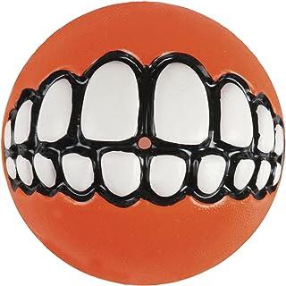 Rogz Grinz Ball Dog Toy, Orange Large