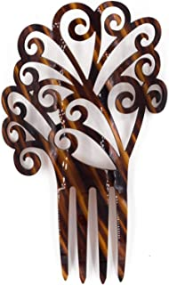 Ole Ole Flamenco Acetate Comb for Hair Flamencos Concha Brown Flamenco Dancer Spanish Combs Peineta Flamenca Marron Ornamental Hair Pins