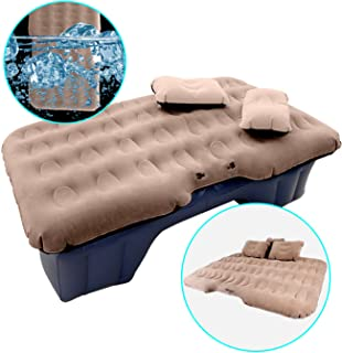 HIRALIY Car Air Mattress for Back Seat Inflatable Car Mattress Portable Travel Camping Mattress Sleep Bed for Road Trips Universal SUV Blow Up Mattress with 2 Air Pillow & Electric Air Pump