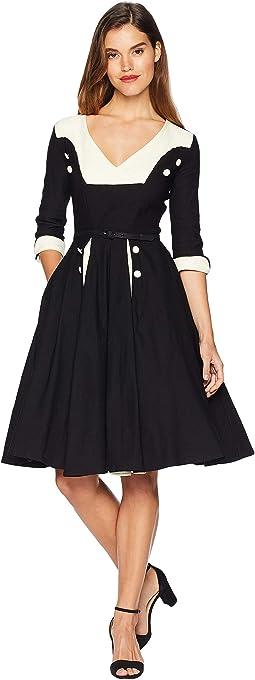 Retro Style Sleeved Lydia Swing Dress
