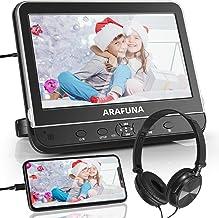 "Car DVD Player Headrest DVD/CD Player with Headphone 10"" HD 1080P Screen ARAFUNA Region Free DVD, USB/SD Port, HDMI/AV in&..."