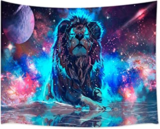 KOTOM Universe Decor Tapestry, Galaxy Lion, Wall Art Hanging for Living Room Bedroom Dorm Decor 80X60Inches Wall Blankets