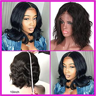 Luduna Brazilian Body Wave Human Hair Lace Front wigs with Baby Hair 130% Density Pre-Plucked Glueless Lace Front Human Hair Wigs For Black Women 100% Unprocessed Body Wave Wigs (14