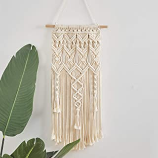 Macrame Wall Hanging, Woven Macrame Tapestry, Boho Home Decor Wall Pediment for Apartment, Bedroom, Nursery, Gallery