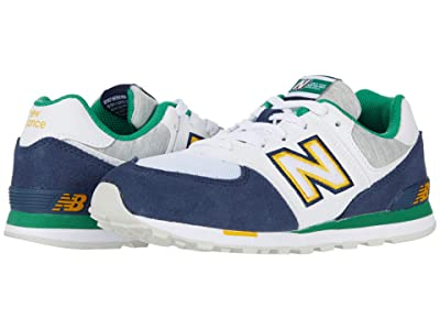 New Balance Kids 574 Varsity Sport (Little Kid) (Natural Indigo/Varsity Green) Boy