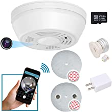 Dummy Smoke Detector WiFi Motion Detection Hidden Surveillance Camera NuCam SD w. 180 Days Standby Battery Power w. 32GB M...