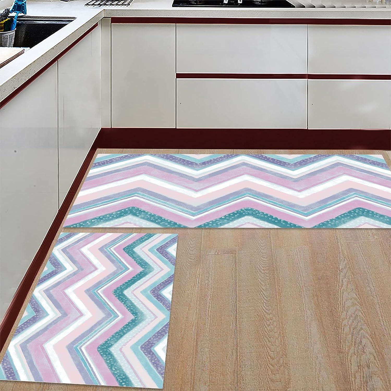 Kitchen Mat Set Anti-WearNon-Slip Floor 2 Rug Pieces Rare El Paso Mall Microf