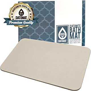 Diatomat Diatomite Stone Bath and Shower Mat by, Non Slip Mat with Diatomaceous Earth Antibacterial Super Absorbent Fast Drying for Bathroom Shower Floor, Promotes Safety for Children and Elderly