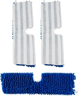 """Houseables Flip Mop Refills, Replacement Pads, 3 Pack, 18 inch, Dual-Action Microfiber Head Floor Mops, Dry/Wet, Machine Washable, Double Sided Velcro Flat Sponge, 18"""" L X 6"""" W, All Surface Cleaning"""