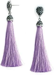 Thread Tassel Earrings Statement Tassel Dangle Earrings Bohemian Fringe Drop Earrings Gifts for Women