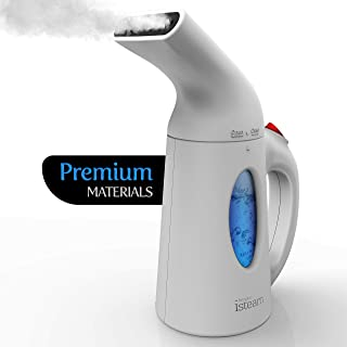 iSteam Steamer for Clothes [Powerful Technology] Dry Steam 7-in-1. Handheld Garment Wrinkle Remover. Portable Mini Steam Iron, Clothing and Fabric Accessory. for Home / Travel [H106]