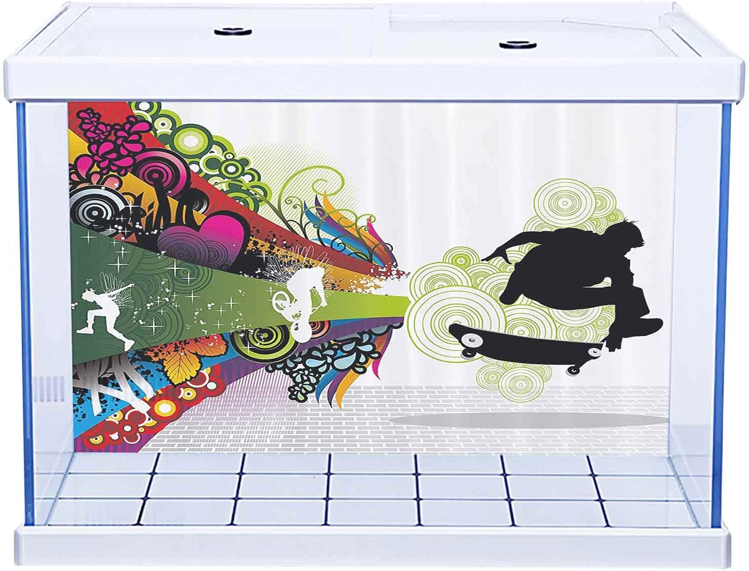 Aquarium Free shipping on posting reviews Background Many popular brands Sticker Teenager Decor Young Vivid Theme Des