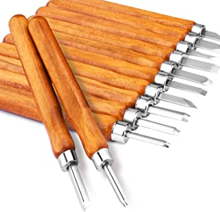 Escultura de Cinceles,Juego de Cinceles Cuchillo de Talla de Madera a Mano Herramientas Durables Chisel 12 Set kit
