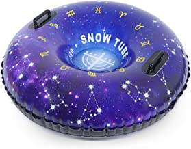 HITOP Snow Tube, Inflatable Snow Sled for Kids and Adults, Heavy Duty Snow Tube Made by Thickening Material of 0.9mm,Snow ...