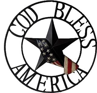 BACKYARD EXPRESSIONS PATIO · HOME · GARDEN 906783 God Bless American Wheel, Multi