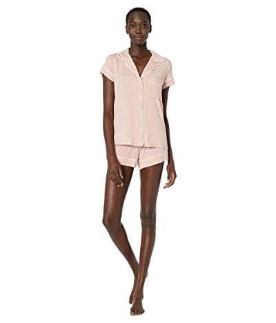 Eberjey Sleep Chic The Short Boxed Pajama Set (Felix Misty Rose/Ivory) Women