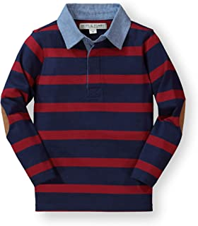 Hope & Henry Boys Striped Long Sleeve Rugby Shirt Made Organic Cotton