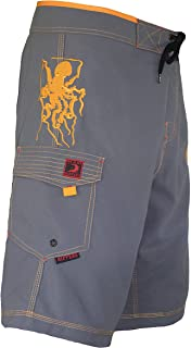 Men's Board Shorts - Octo Tako | Triple Stitch Quick Dry Men's Swim Trunks
