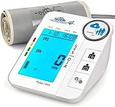 SIMBR Tensiómetro de Brazo Digital con Detección de Arrítmia Monitor de Tension Arterial con Memoria (2×128) y Gran Pantalla LED Certificada por CE ROHS FDA
