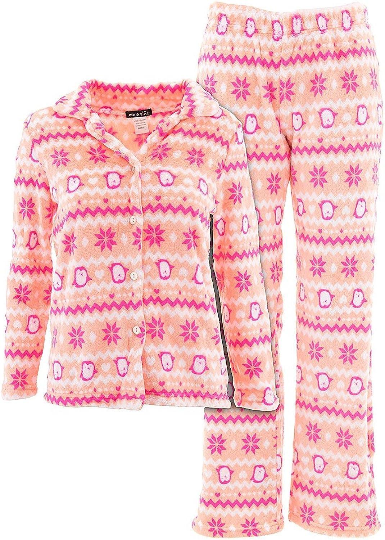 Em and Alfie Juniors Novelty Print Plush Pajamas