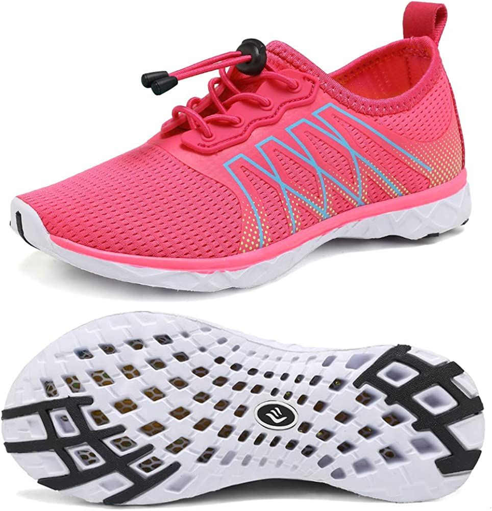 CIOR Boys & Girls Water Shoes Quick Drying Sports Aqua Athletic Sneakers Lightweight Sport Shoes(Toddler/Little Kid/Big Kid) U1ELJSX005-Pink.TH-30